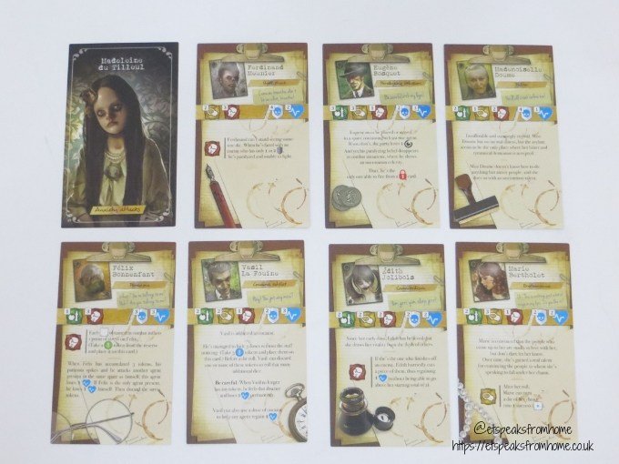 T.I.M.E Stories Game player cards