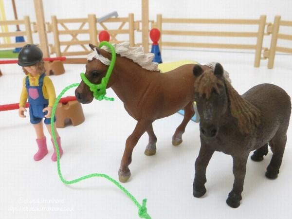Schleich Pony Agility Training ponies