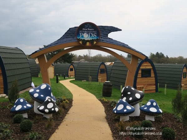 Alton Towers Resort Stargazing Pods entrance