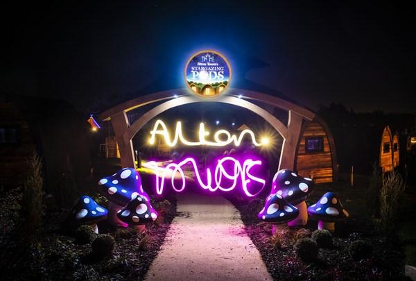 Alton Towers Resort Stargazing Pods night