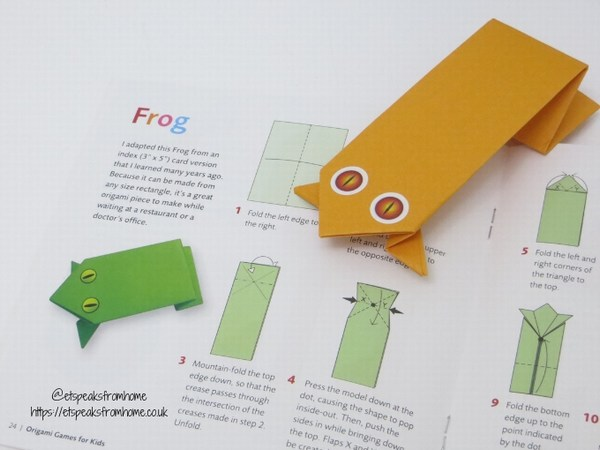 origami games for kids frog craft