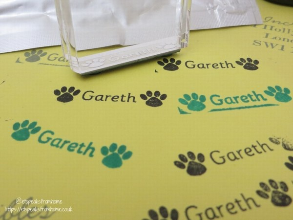 stamptastic personalised name stamp with icon