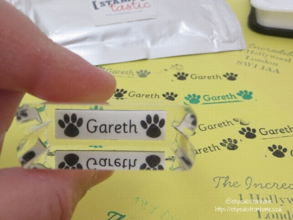 stamptastic personalised name stamp