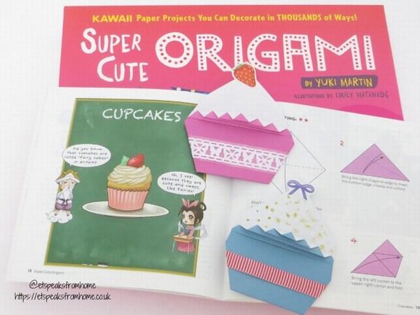 super cute origami cupcake