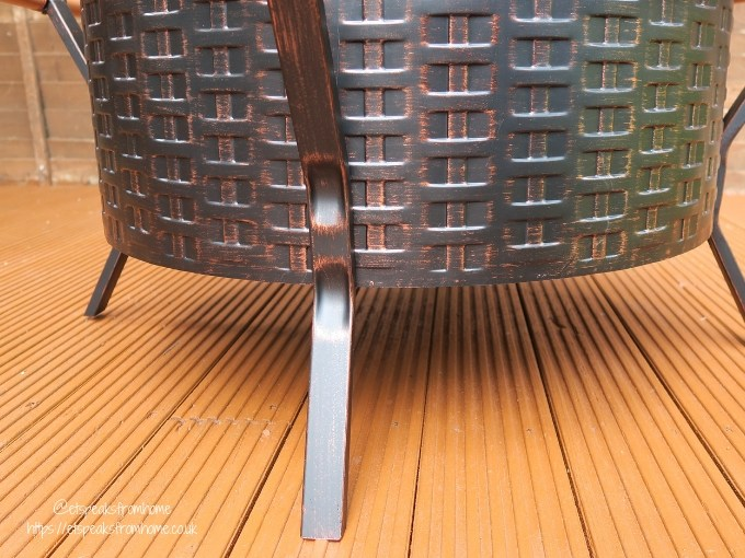 Getting Garden Ready with VonHaus Copper Rim Fire Pit legs