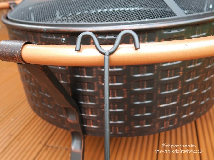Getting Garden Ready with VonHaus Copper Rim Fire Pit poker