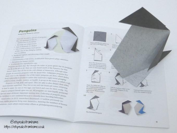 Origami Endangered Animals penguin