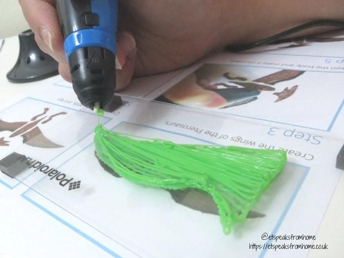 polaroid 3d pen dino wing
