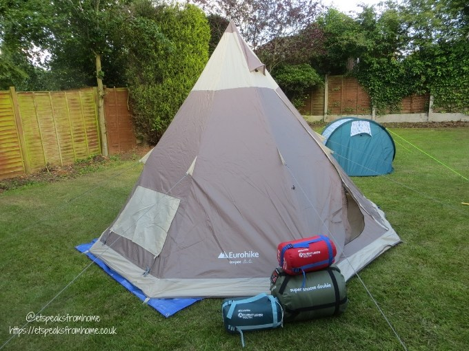 Garden Family Sleepover - Wild Night Out eurohike teepee