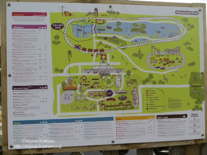 A Day at Wicksteed Park map