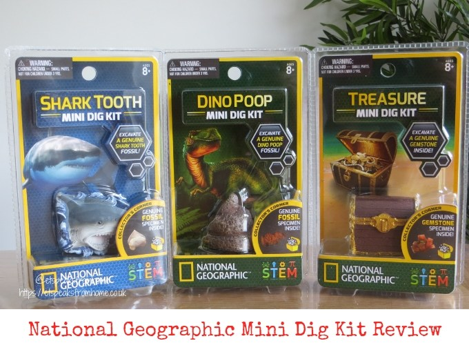 National Geographic Mini Dig Kit Review - ET Speaks From Home