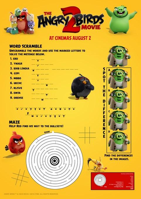 the angry birds movie 2 printable