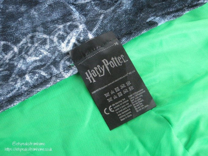 Harry Potter Invisibility Cloak label