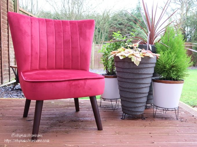 Sloane & Sons Stylish Chairs red velvet cocktail chair