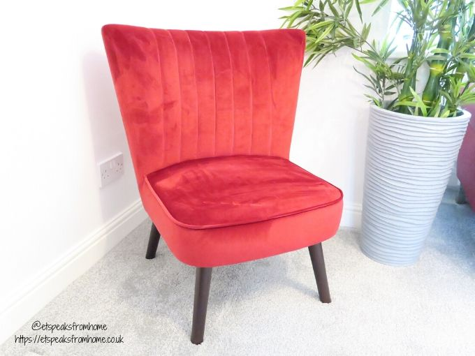 Sloane & Sons Stylish Chairs red velvet cocktail