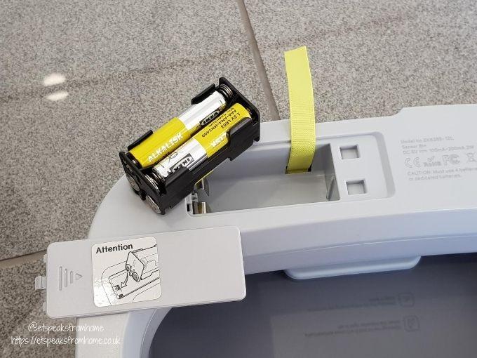 Eko Morandi Sensor Bin 12L batteries