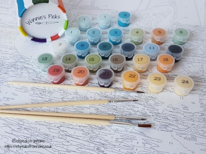 winnie's picks paint by numbers contents