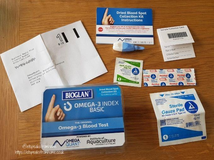 Bioglan Omega-3 Challenge test kit contents