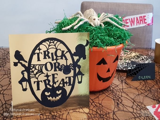 Halloween Craft with Design Bundles treat or trick template