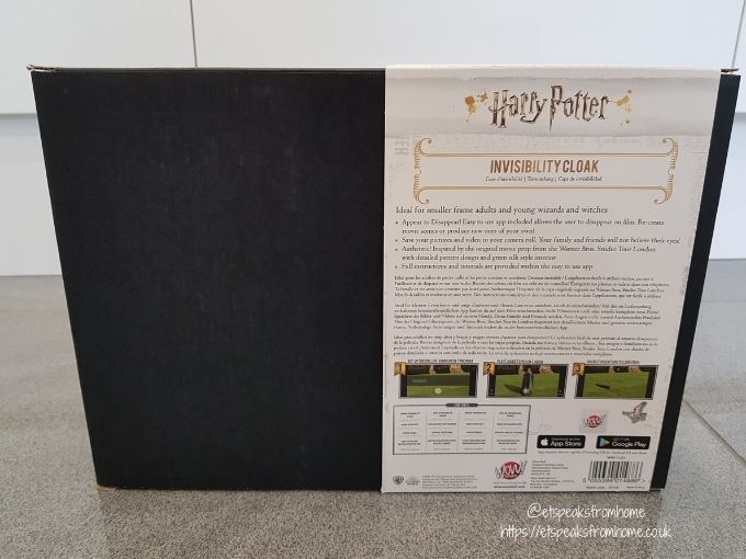 Harry Potter Junior Invisibility Cloak box