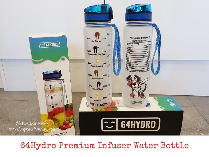 64Hydro Premium Infuser Water Bottle