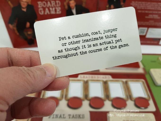 Taskmaster Board Game card