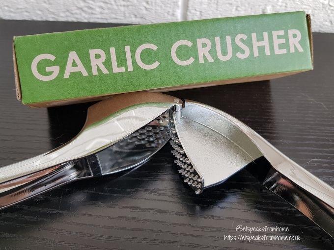 Oliver's Kitchen Garlic Press open