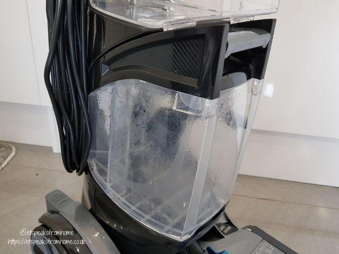 VAX Platinum SmartWash Carpet Washer dirty water tank