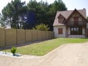 Aménagement clôture béton imitation bois à Marcilly en Gault