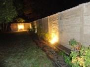 Aménagement clôture mur béton imitation pierre sèche à Vineuil