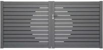 Portail aluminium bicolore