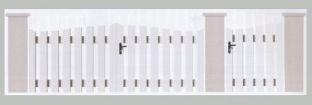 Portail PVC Blanc disponible à la vente dans le Loir et Cher