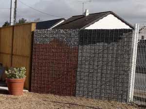 clôture Gabion en grillage et gravier chez Ets Thomas