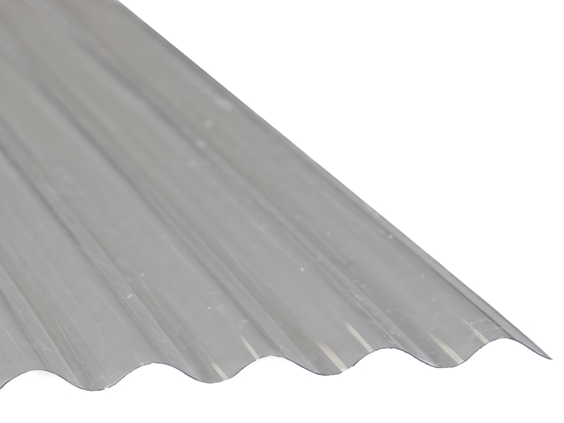 tôle polyester ondulée translucide pour laisser passer la lumière