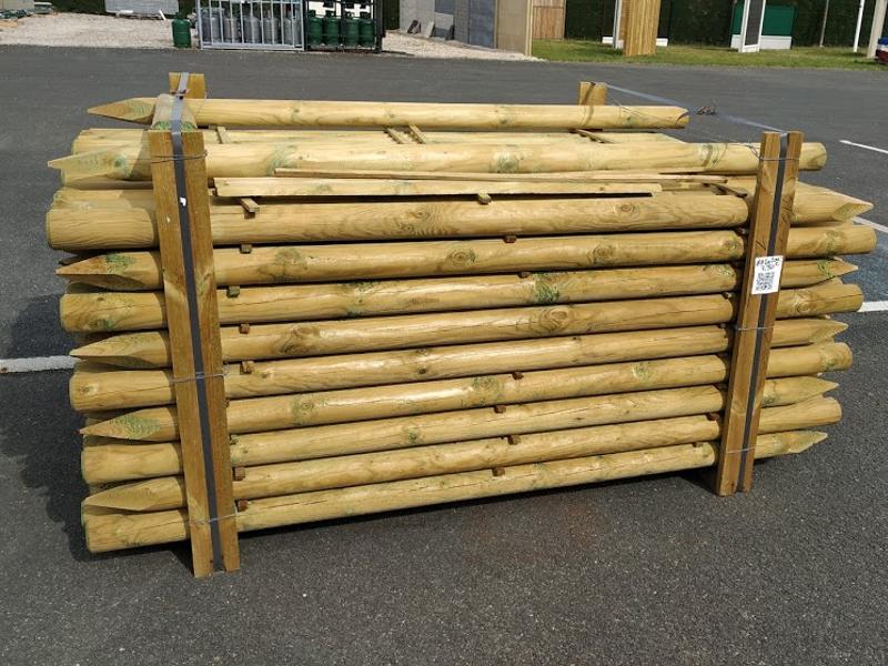 Piquet pour clôture grillage