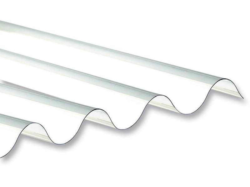 Tôle polycarbonate ondulée transparente pour puits de lumière
