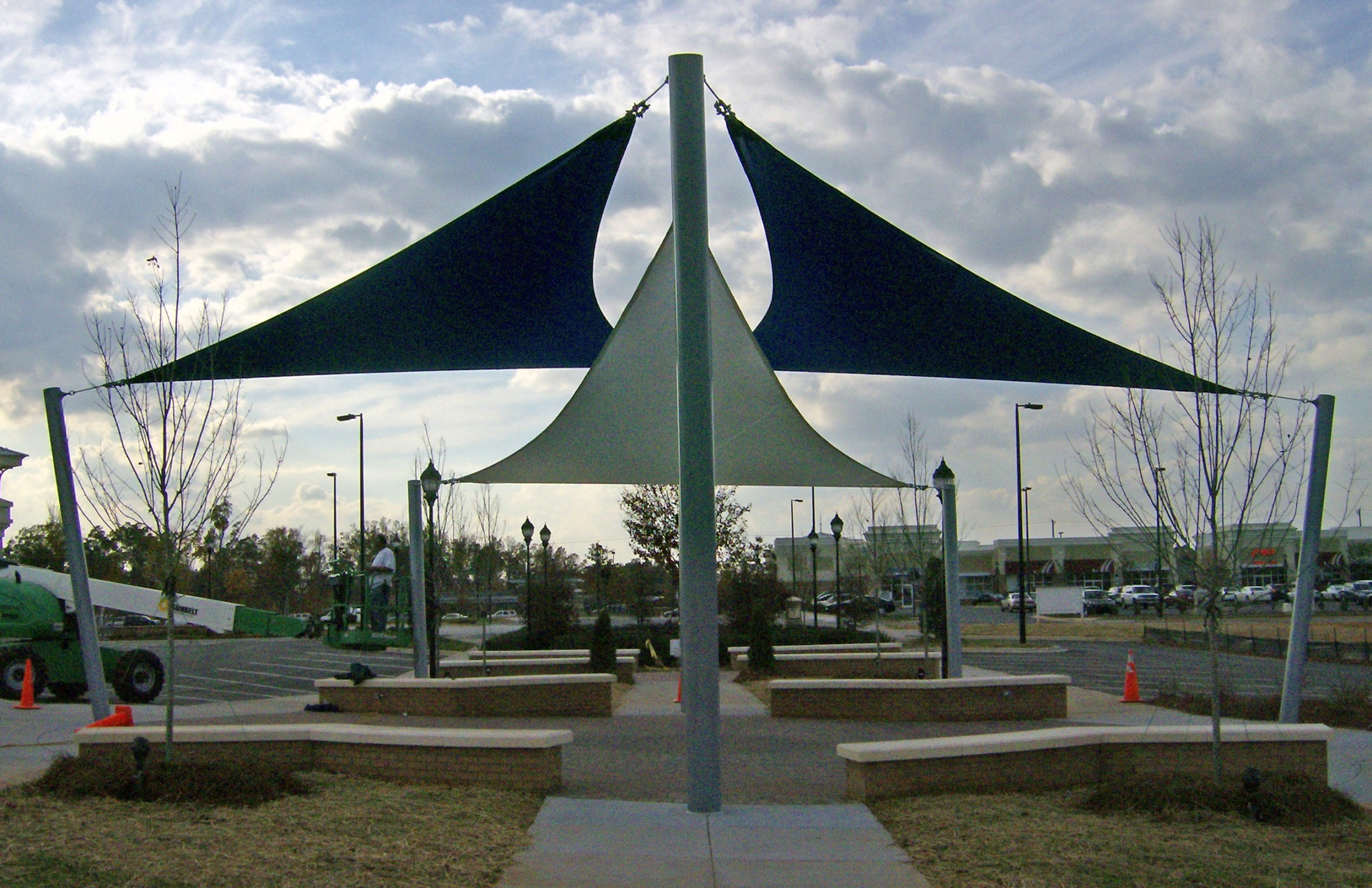 Tri Sail Park Shade Structure