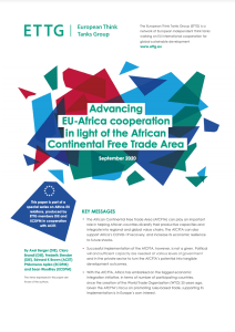 Advancing EU-Africa cooperation in light of the African Continental Free Trade Area