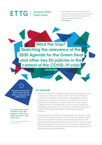 ETTG Briefing paper picture - Sketching the relevance of the 2030 Agenda for the Green Deal in the context of the COVID 19 crisis