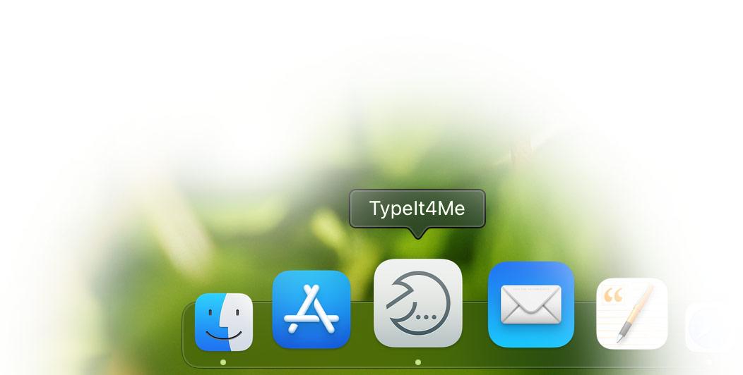 TypeIt4Me app icon in the dock