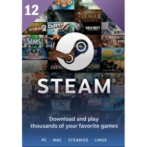 Steam Wallet Gift Card 12 USD key