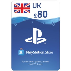 PlayStation Network Gift Card 80 GBP - PSN UNITED KINGDOM