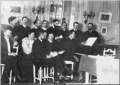 Classe de composition à la Scola Cantorum