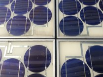 solar panel quartered