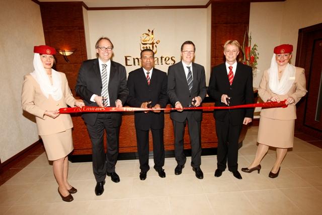 Emirates eröffnet größte Lounge in Deutschland