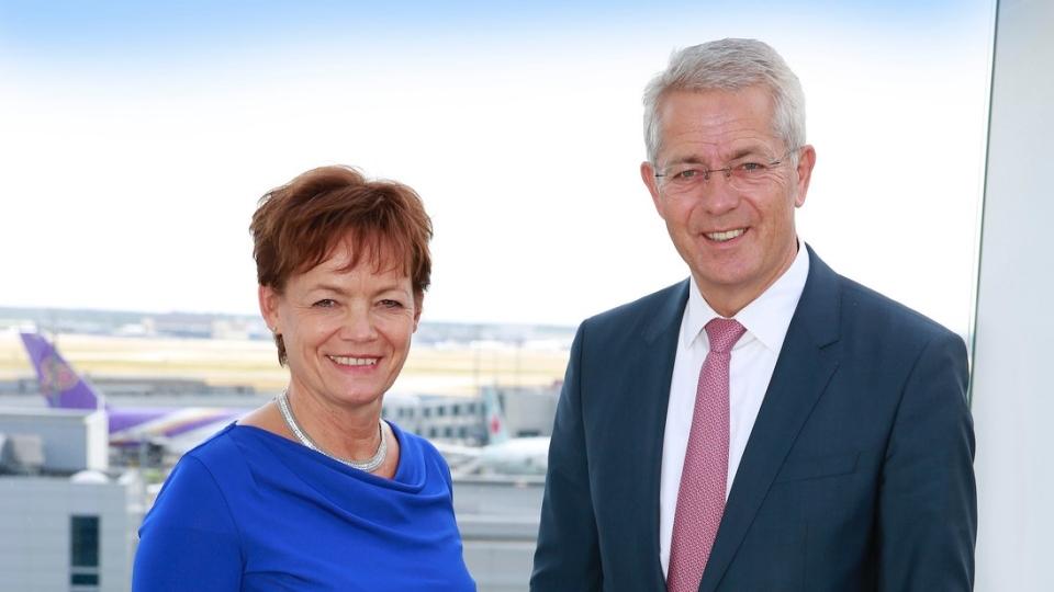 Europaministerin Lucia Puttrich besucht Frankfurter Flughafen