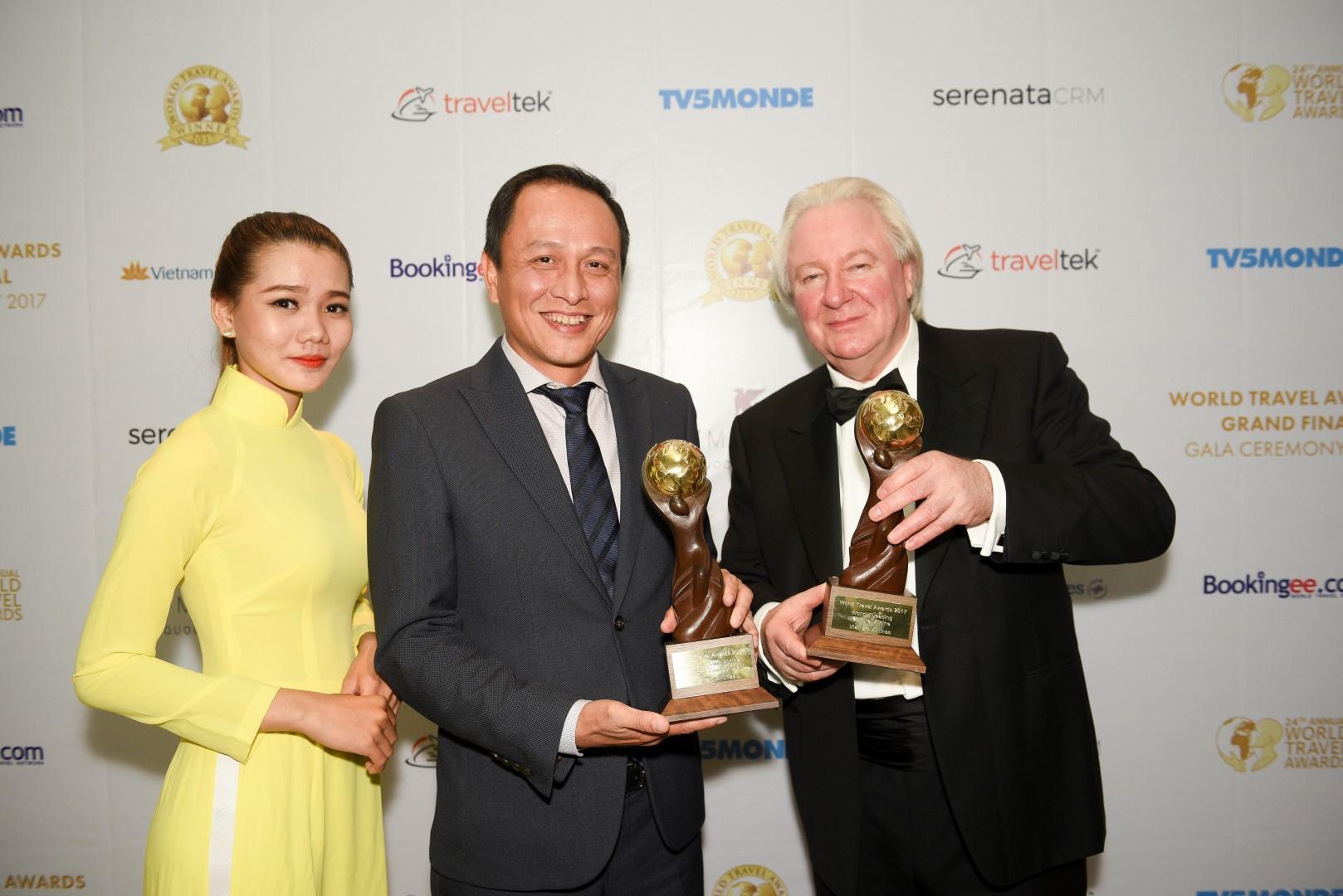 Vietnam Airlines doppelt bei den World Travel Awards 2017 ausgezeichnet