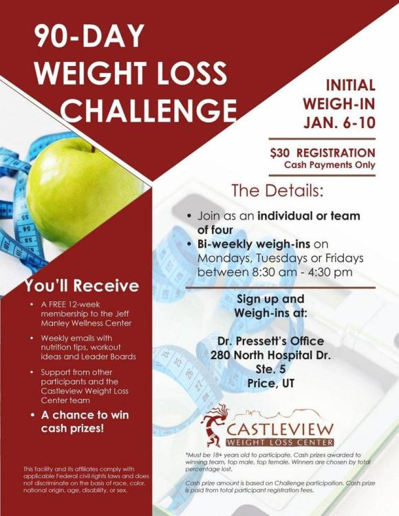 Meet Your Goals With Castleview's 90-Day Weight Loss Challenge ...