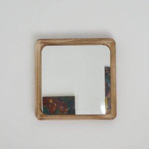 Miroir en bois carré modèle moyen Etxe Mia!