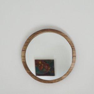 Miroir en bois rond grand modèle Etxe Mia!